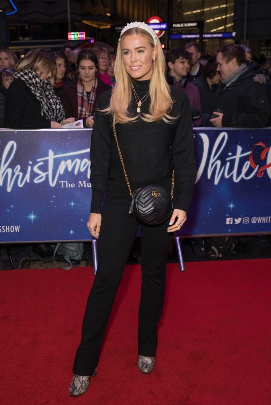 CHLOE MEADOWS at White Christmas Musical Press Night in London 11/25/2019