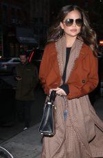 CHRISSY TEIGEN Out in New York 11/21/2019