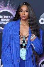CIARA at 2019 America Music Awards in Los Angeles 11/24/2019
