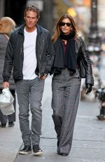 CINDY CRAWFORD and Rande Gerber Out in New York 11/26/2019