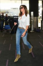 CINDY CRAWFORD in Denim at LAX Airport in Los Angeles 11/21/2019