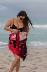 CLAUDIA ROMANI in Bikini on South Beach 11/20/2019