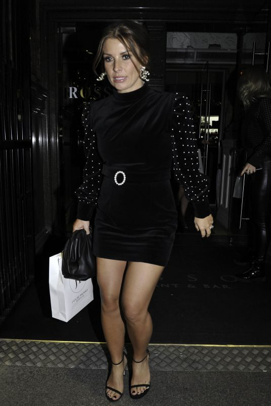 COLEEN ROONEY Leaves Rosso Restaurant in Manchester 11/29/2019
