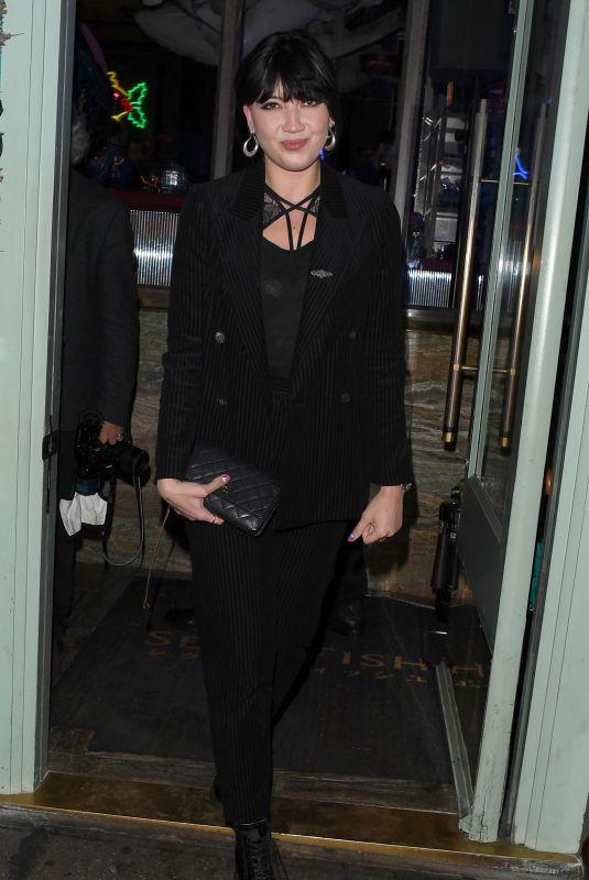 DAISY LOWE Leaves Sexy Fish Restaurant in London 11/28/2019