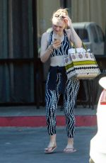 DAKOTA FANNING in Tights Leaves a Gym in Los Angeles 11/09/2019