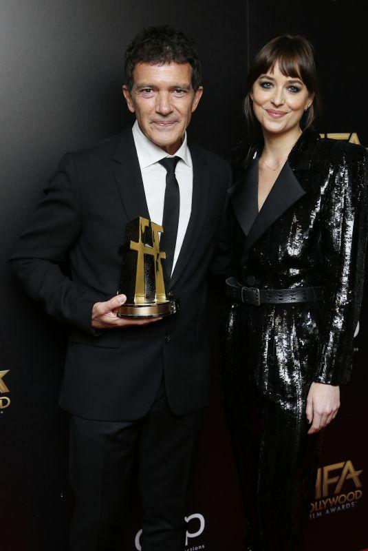 DAKOTA JOHNSON and Antonio Banderas at Hollywood Film Awards in Beverly Hills 11/03/2019
