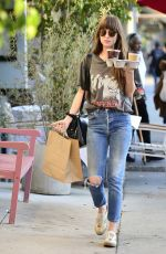 DAKOTA JOHNSON Out in Larchmont Village in Los Angeles 11/06/2019
