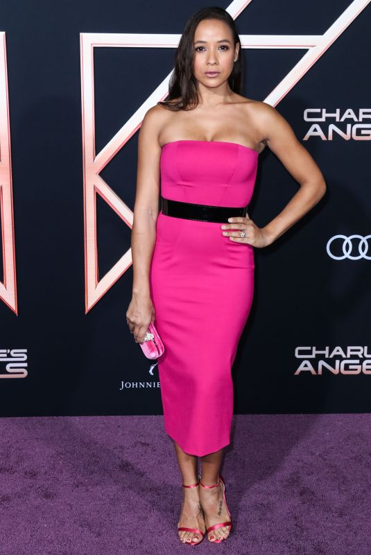 DANIA RAMIREZ at Charlie's Angels Premiere in Los Angeles 11/11/2019