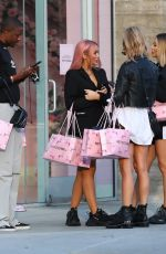 DEMI, CHLOE and FRANKIE SIMS Leaves PrettyLittleThings Shop in Los Angeles 11/13/2019