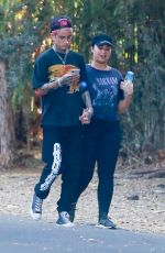 DEMI LOVATO and Austin Wilson Out Hikinig in Studio City 11/16/2019