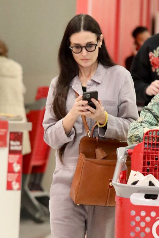 DEMI MOORE Shopping at Target in Los Angeles 11/27/2019
