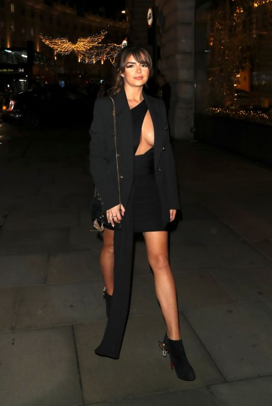 DEMI ROSE MAWBY Arrives at Cafe Royal in London 11/14/2019