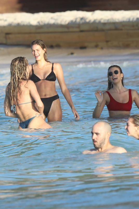 DEWON WINDSOR, OLIVIA CULPO, SHANINA SHAIK, GEORGIA FOWLER, HANNAH FERGUSON and LORENA RAE in Bikinis in St. Barths 11/17/2019