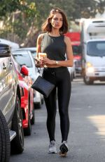 EIZA GONZALEZ Out for Coffee in West Hollywood 11/07/2019