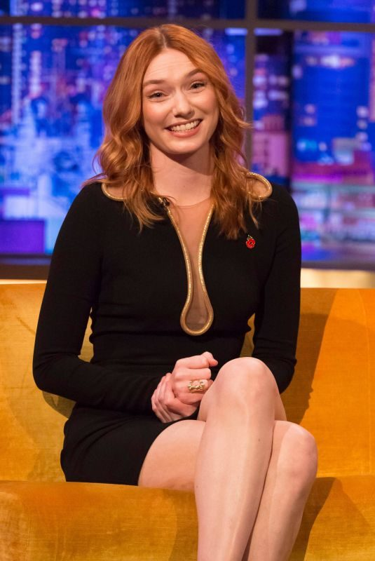 ELEANOR TOMLINSON at Jonathan Ross Show 11/09/2019