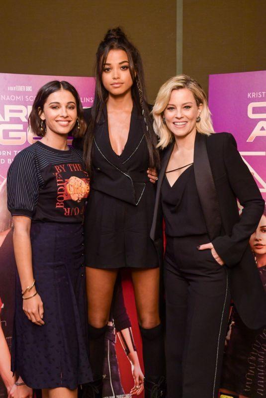 ELIZABETH BANKS, NAOMI SCOTT and ELLA BALINSKA at Charlie's Angels VIP Screening in New York 11/05/2019