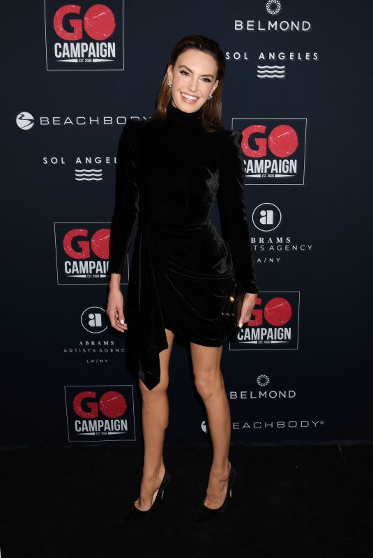 ELIZABETH CHAMBERS at Go Campaign's 13th Annual Gala in Hollywood 11/16/2019