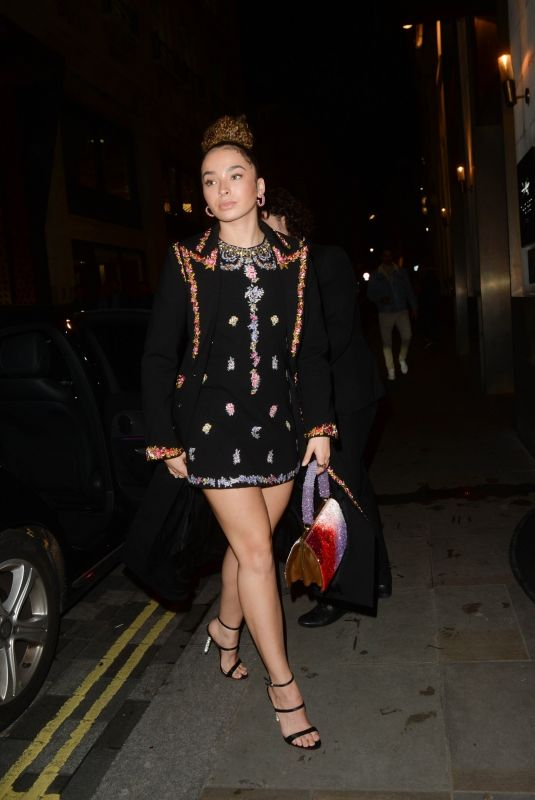 ELLA EYRE Arrives at Giambattista Valli x H&M Dinner in London 11/04/2019