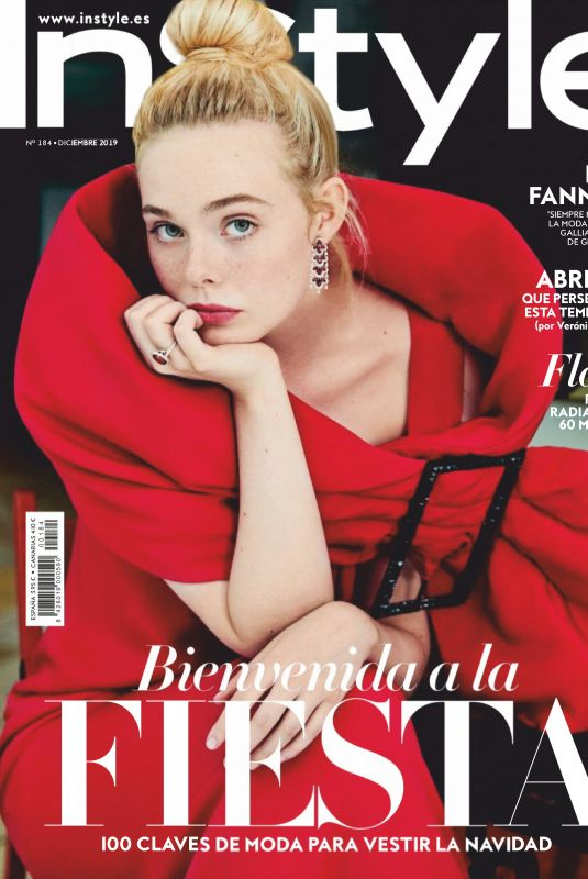 ELLE FANNING in Instyle Magazine, Spain December 2019