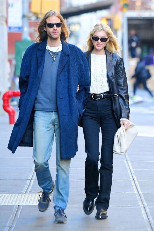 ELSA HOSK and Tom Daly Out in New York 11/27/2019