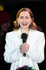 EMILIA CLARKE at Covent Garden Christmas Lights Wwitch On and Sing Along in London 11/12/2019