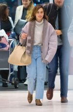 EMILIA CLARKE at JFK Airport in New York 10/31/2019