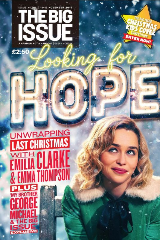 EMILIA CLARKE in The Big Issue, November 2019