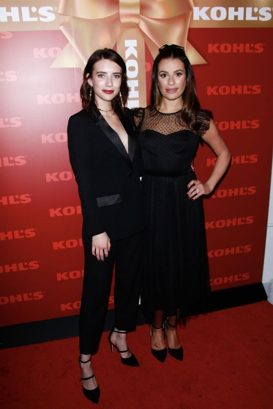 EMMA ROBERTS and LEA MICHELE at Kohl