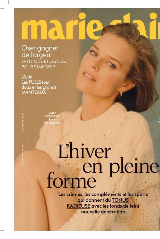 EVA HERZIGOVA in Marie Claire Magazine, France December 2019