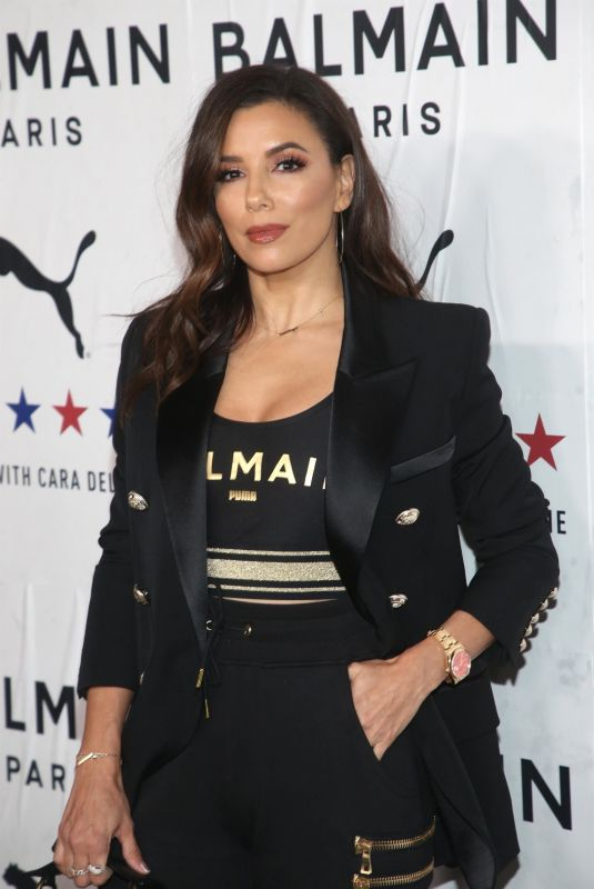 EVA LONGORIA at Puma x Balmain Launch Event in Los Angeles 11/21/2019
