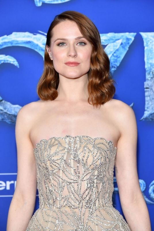 EVAN RACHEL WOOD at Ffrozen 2 Premiere in Hollywood 11/07/2019