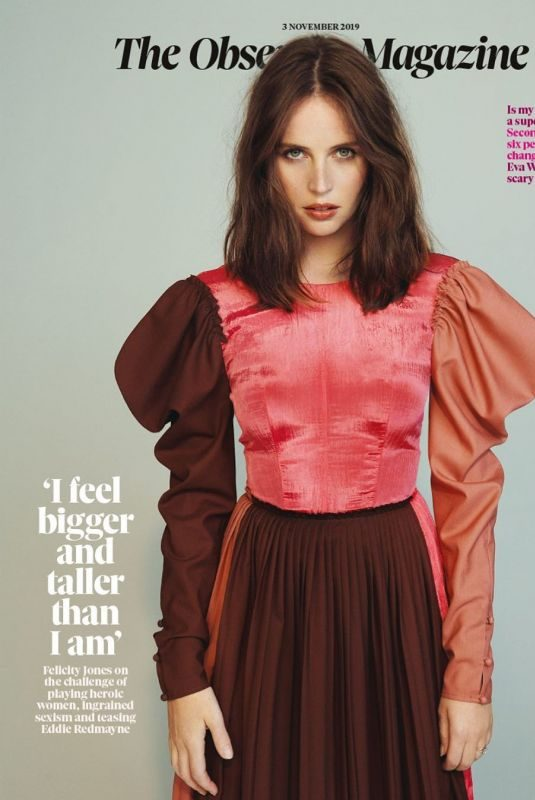 FELICITY JONES in The Observer Magazine, November 2019