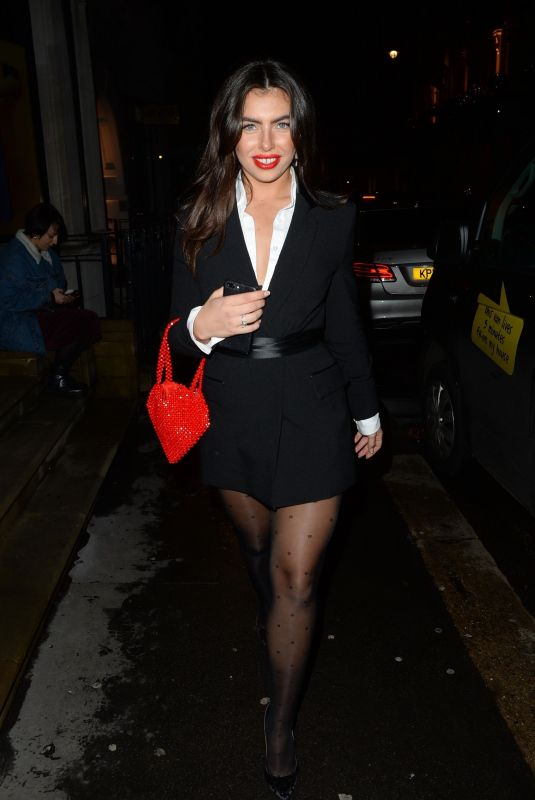 FRANCESCA ALLEN Arrives at Annabel's in London 11/27/2019