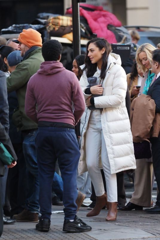 GAL GADOT Arrives at Set of a Commercial in London 11/10/2019