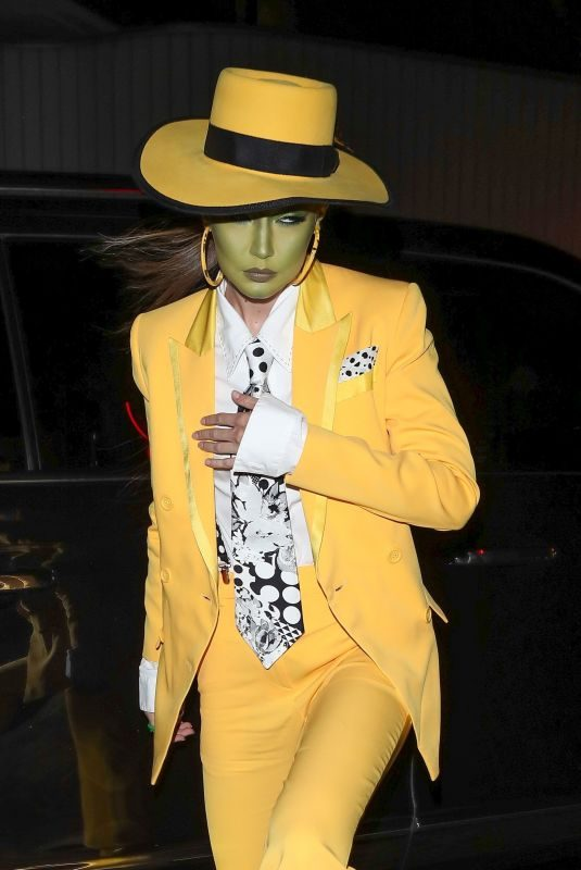 GIGI HADID Arrives at Kendall Jenner's Halloween Party 10/31/2019