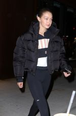 GIGI HADID Night Out in New York 11/05/2019