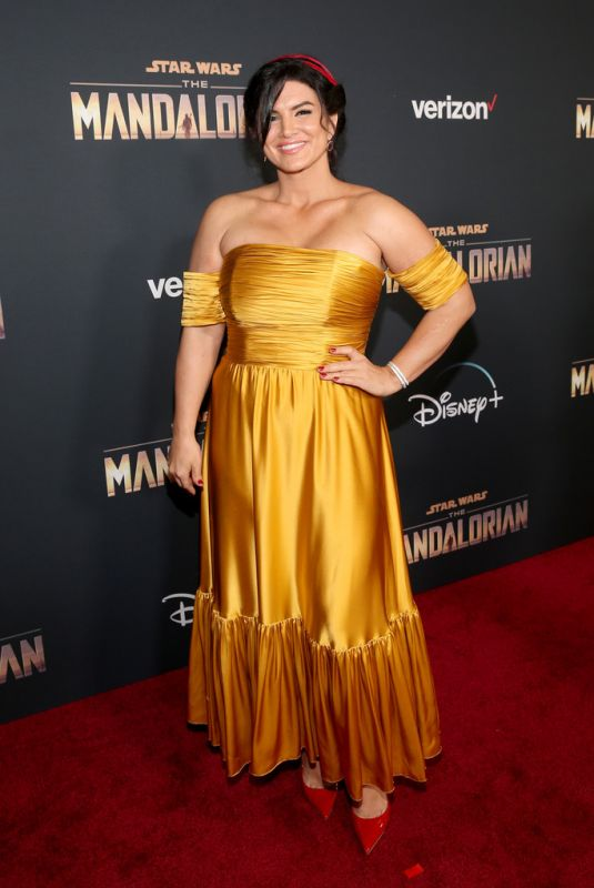 GINA CARANO at The Mandalorian Premiere in Los Angeles 11/13/2019