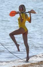 HAILEY BIEBER in Bikini on the Set of a Photoshoot in Miami 11/27/2019