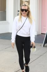 HILARY DUFF Leaves a Nail Salon in Studio City 11/13/2019