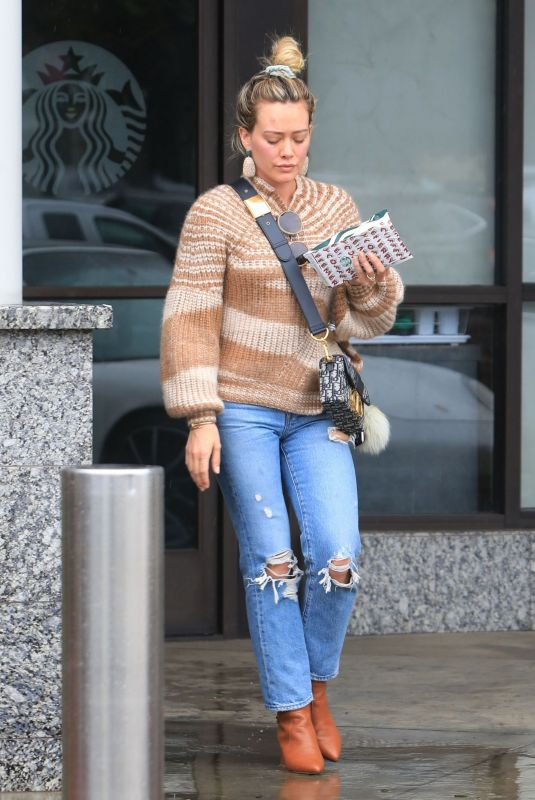 HILARY DUFF Leaves Nail Salon in West Hollywood 11/27/2019