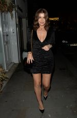 IMOGEN THOMAS Arrives at Jaks Bar for Her Birthday Party in London 11/29/2019