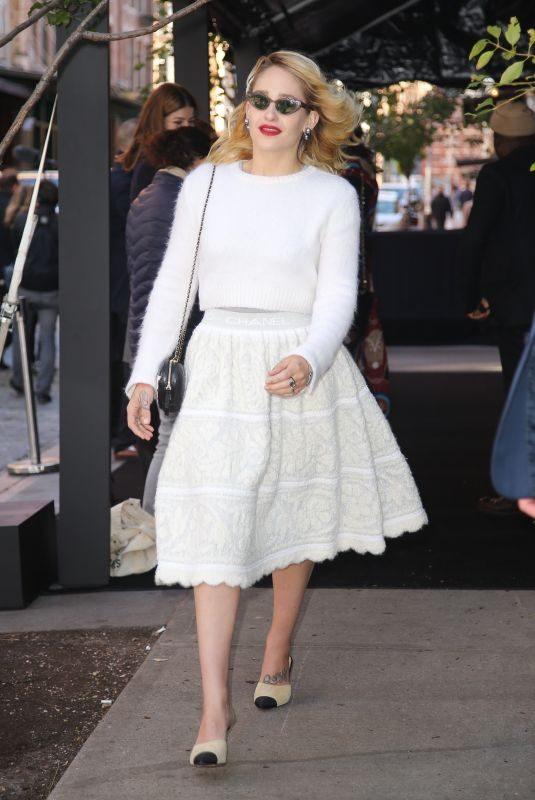 JEMIMA KIRKE Arrives at Tribeca Chanel Women's Filmmaker Program Luncheon 11/04/2019