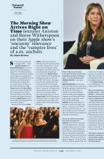 JENNIFER ANISTON and REESE WITHERSPOON in Hollywood Reporter and OK Magazine, November 2019