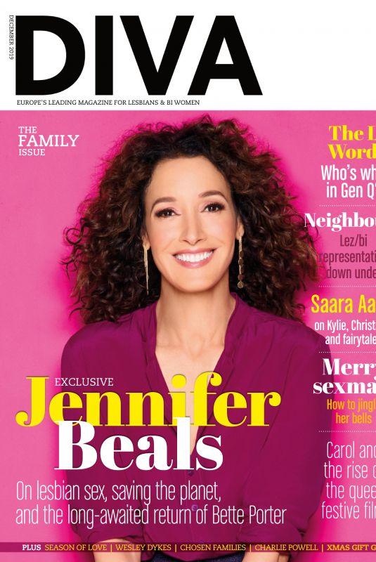 JENNIFER BEALS in Diva Magazine, UK December 2019