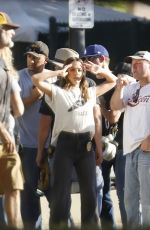 JESSICA ALBA and GABRIELLE UNION on the Set of L.A.