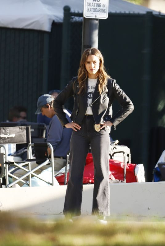 JESSICA ALBA on the Set of L.A.'s Finest in Los Angeles 11/06/2019