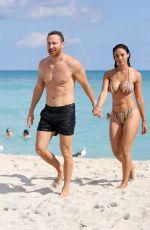 JESSICA LEDON in Bikini at a Beach in Miami 11/19/2019