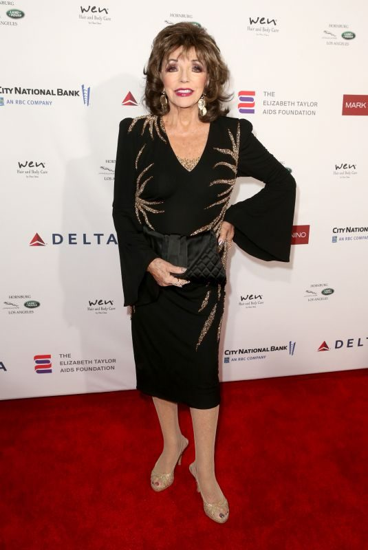 JOAN COLLINS at Mark Zunino Atelier Fashion and Cocktail Reception to Benefit Elizabeth Taylor Aids Foundation in Los Angeles 11/07/2019