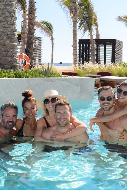 JULIANNE HOUGH, BROOKE BURKE and HAYLEY ERBERT in Bikinis at Nobu Hotel Los Cabos 11/01/2019