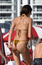 KAIA GERBER in Bikini at a Beach in Miami 11/22/2019